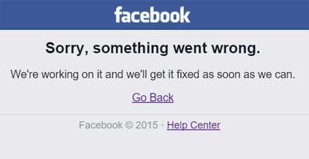 #FacebookDown - Facebook fuori uso.