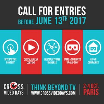 Cross Video Days (2-4 ottobre, Parigi): open calls